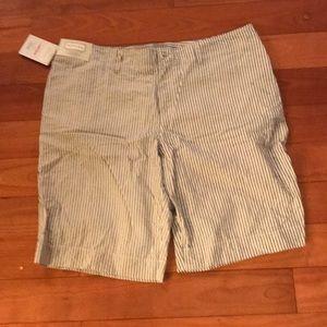 NWT Merona Bermuda Seersucker Shorts size 18W